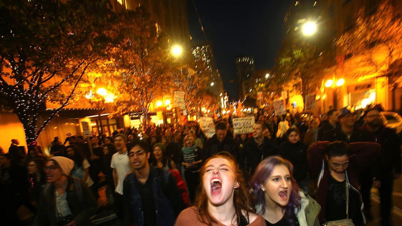 Protestas anti-Trump en Seattle