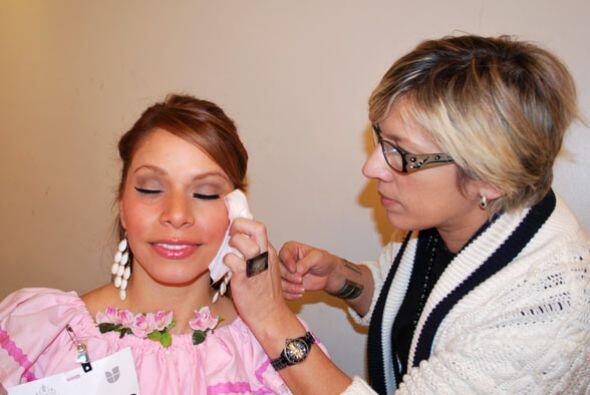 En la audición de Nuestra Bellezas Latina a Daniela García...