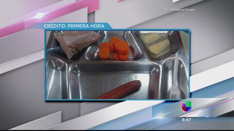 Estudiante denuncia que le dan solo un 'hot dog' para almuerzo