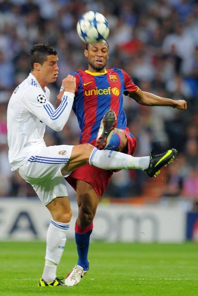 A Cristiano Ronaldo le costó superar la marca rival.