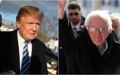 Trump y Sanders