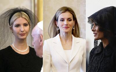 Melania Trump, la reina Letizia de España y Melania Trump, vestid...