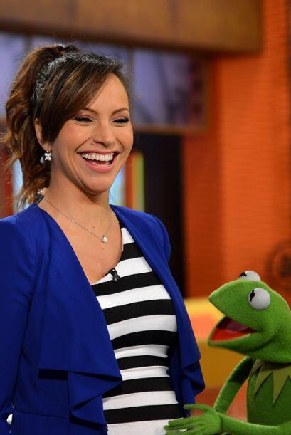 Todos quieren tocar la pancita de Satcha, ni la rana Kermit pudo resisti...