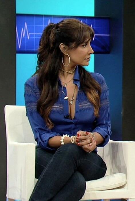 La actriz y cantante mexicana Lorena Rojas fue la invitada especial de C...