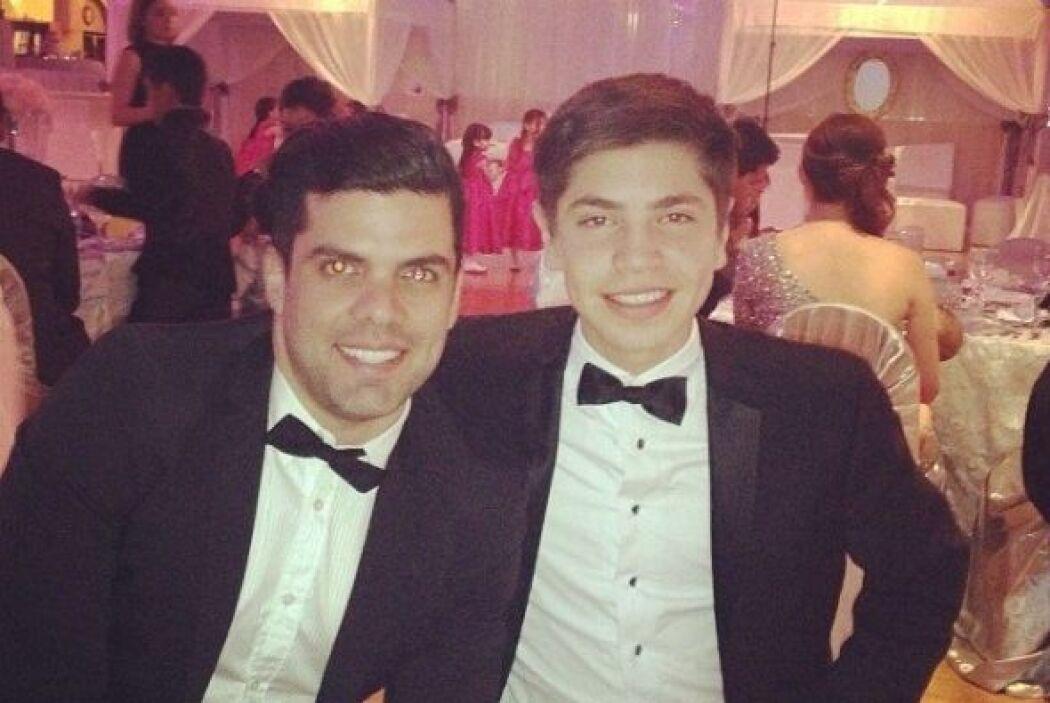 Anibal Marrero estuvo en la fiesta y se tomó una foto con el sobrino de...