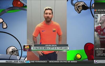 """Messi para Totti: """"Siempre te admiré y espero verte jugar un par de años..."""