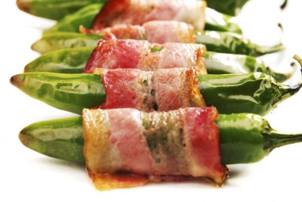 Jalapeños Envueltos en Tocino con Pimienta Ingredientes  6 rebanadas de...
