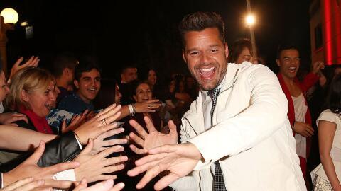 Ricky Martin viajó de Brasil a NYC para poder votar.