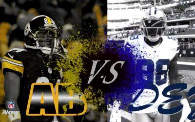¿Quién tendrá la mejor atrapada? Dez Bryant vs. Antonio Brown