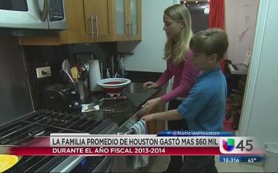 Familias en Houston gastan más de $60 mil al año