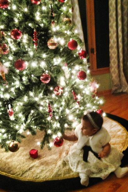 Itzel Verónica Salas envió una foto de la primera navidad...