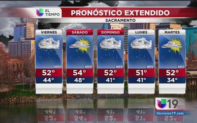 Seguirá la lluvia y el viento en Sacramento