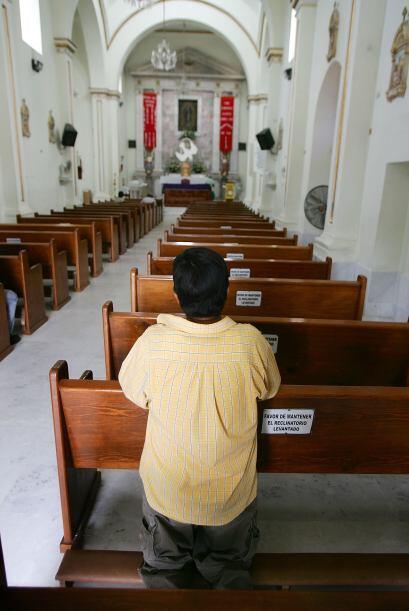 Iglesia de la Virgen de Guadalupe en Sonora. El templo es visitado a dia...