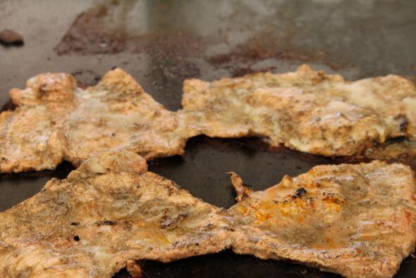 Una de las novedades de la feria fueron las tortas de filete de cerdo co...