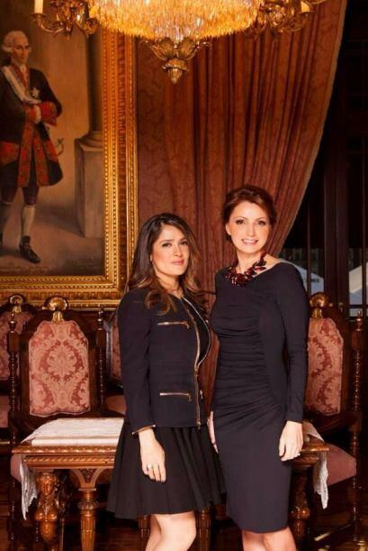 """""""Quiero darle un especial agradecimiento a Salma Hayek por acompañarnos..."""