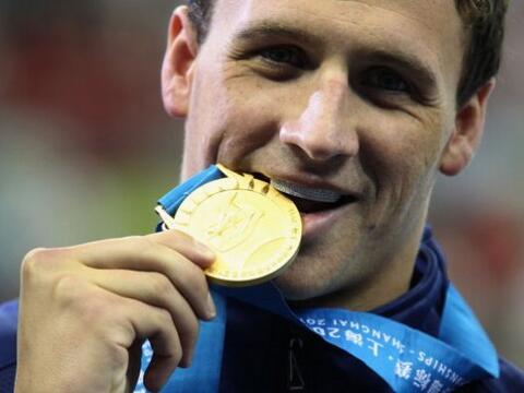 ¡Ryan Lochte tercera medalla de oro del Campeonato Mundial de Nata...