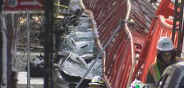 Aún se desconocen las causas del colapso de grúa