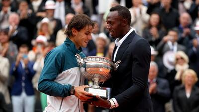 Nadal impone récord en la arcilla parisina, ocho veces campeón. Usain Bo...