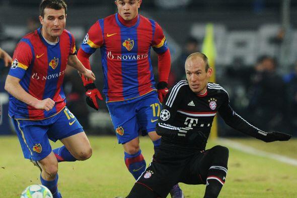 El otro partido del día tuvo lugar en Suiza, donde el Basilea rec...