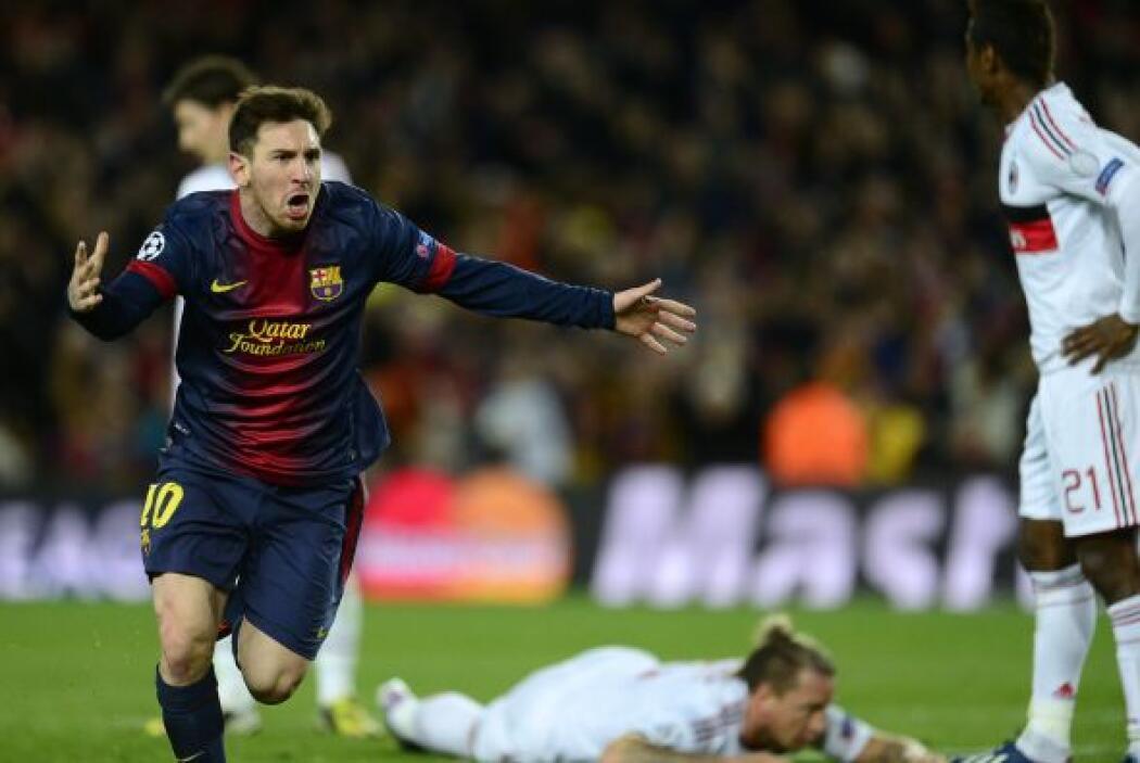 Fue el gol 58 de Messi en Champions.