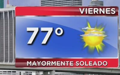 Viernes de cielo mayormente soleado, pero con bajas temperaturas en Miami