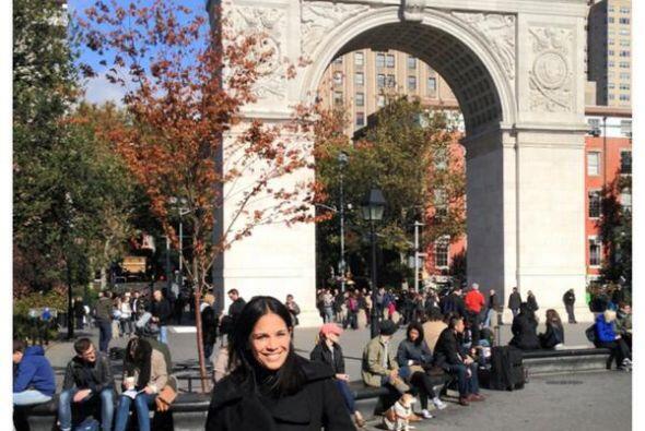 """¡Hermoso día en New York! @DespiertaAmeric @GMA @Univision"", se alegró..."