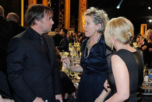 ¿Qué le estará diciendo Frances McDormand al director Richard Linklater?...