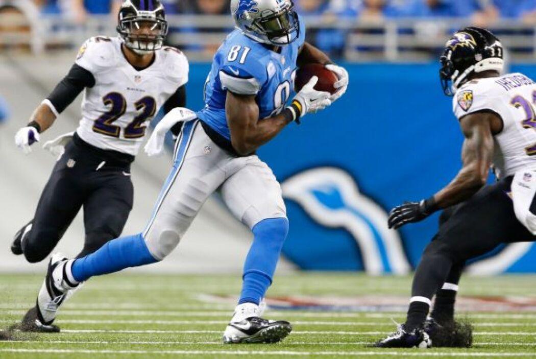 Receptor: Calvin Johnson, Detroit Lions.
