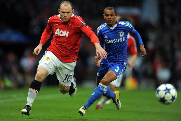 Manchester dominó ligeramente las acciones en el inicio del partido.