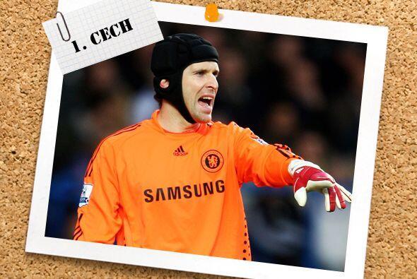 En la portería aparece el checo Petr Cech, clave en el triunfo del Chels...