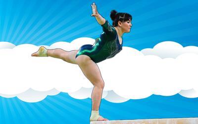La gimnasta Alexa Moreno representó a México en los Juegos...