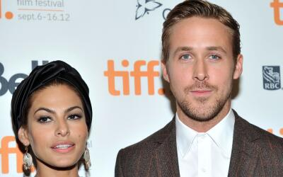 Mendes y Gosling en la premiere de 'The Place Beyond The Pines'