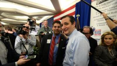 Ted Cruz durante su visita a New Hampshire.