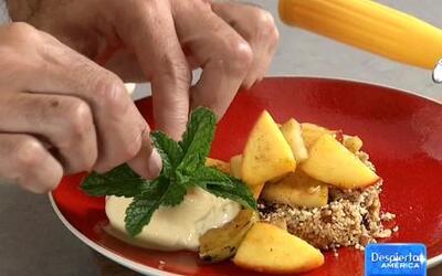 Receta de Crumble de Frutas con el Chef Oropeza en Despierta América