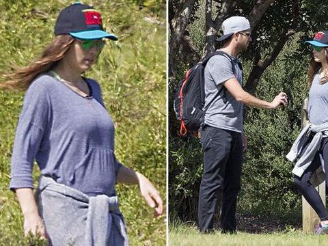 ¿Serán estas las primeras fotos de la pancita de embarazo...