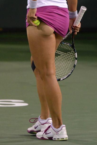 Vaya vista de la actual campeona del Abierto de Australia, la china Na L...