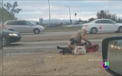 Graban aparente abuso de fuerza policial