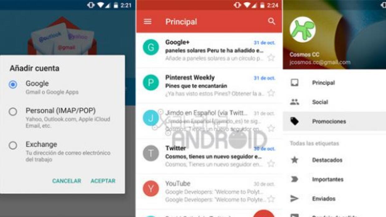 El diseño de la app de Gmail cambió por completo en esta nueva versión.