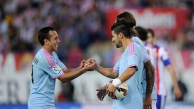 Nolito (derecha) hizo el gol del triunfo del Celta.
