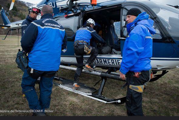 Para llegar a la difícil zona donde se encuentran los restos del avión,...