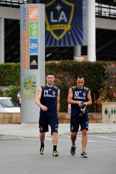 Al final del entrenamientos, los jugadores se retiraron con una sonrisa.