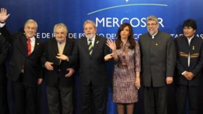 Los presidentes de los países del Mercosur se reunieron en Argentina.