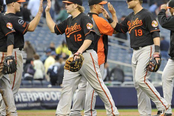 Baltimore celebró discretamente la victoria ante Yankees.