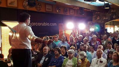 Marco Rubio habla en el Havana Grill de Las Vegas en octubre pasado
