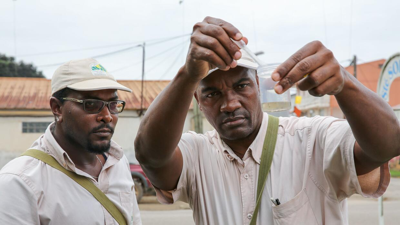 En la Guyana francesa, miembros de las Autoridades Territoriales desarro...