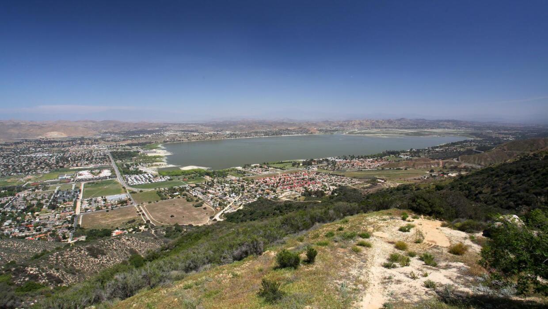 Imagen de archivo del lago Elsinore tomada el 15 de abril de 2014.
