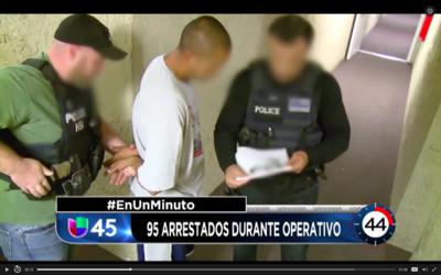 En Un Minuto: Arrestan a 95 personas con antecedentes criminales en un o...
