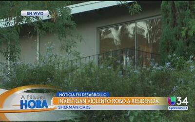 Mujer fue víctima de violento robo residencial
