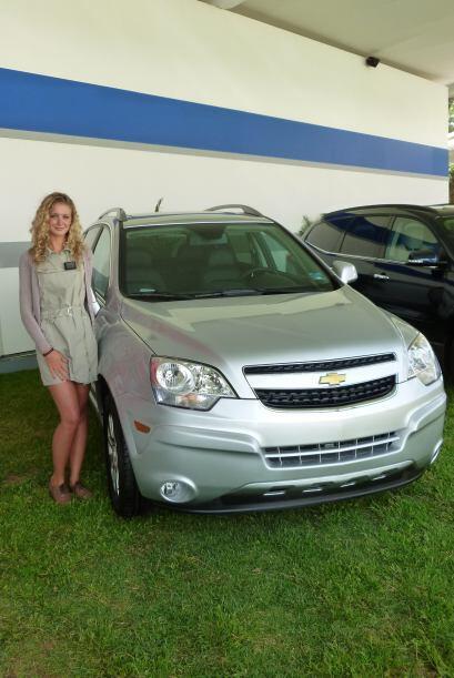 Chevrolet tuvo un buen número de visitas a su stand y al ver a esta guap...