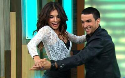 Alejandra Espinoza bailó urbano en La Fiebre del Baile en Despierta América